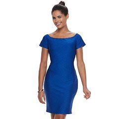 Women's Double Click Textured Sheath Dress