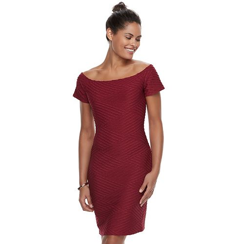 Women's Double Click Textured Sheath Dress