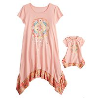 Girls 5-14 American Girl Treble Clef Dorm Nightgown & Doll Nightgown