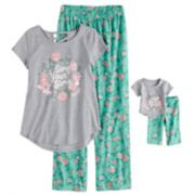 Girls 5-14 American Girl Music Top & Bottoms Pajama Set & Doll Pajama Set