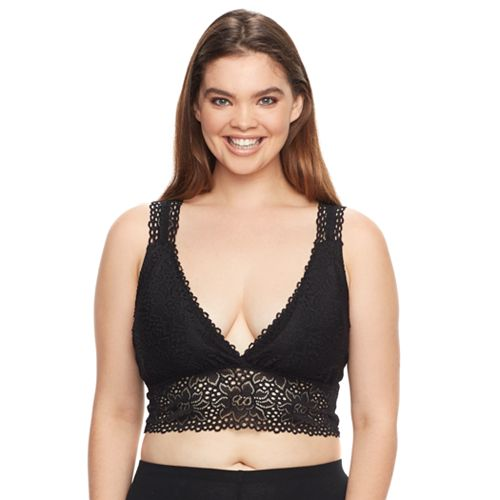 Plus Size It's Just A Kiss Bras: Lace Bralette BR-30660AX