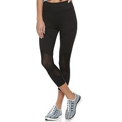 Juniors' SO® Mesh Block Yoga Capri Leggings