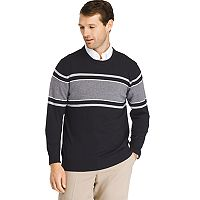 Big & Tall IZOD Regular-Fit Striped Wool-Blend Crewneck Sweater