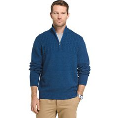 Big & Tall IZOD Newport Regular-Fit Cable-Knit Quarter-Zip Pullover