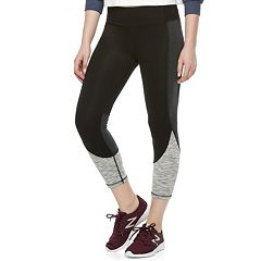 Juniors' SO® Colorblock High-Waisted Yoga Capris