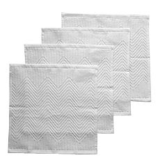 Food Network™ Solid White Sculpted Dishcloth 4-pack