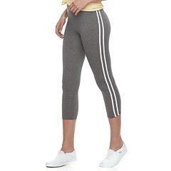 Juniors' SO® Stripe Side Capri Leggings