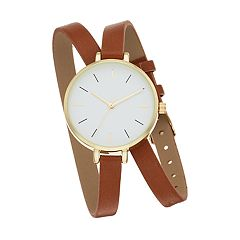 Women's Slim Band Double Wrap Watch