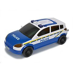 Dickie Toys Majorette Light and Sound Police Car Carrying Case