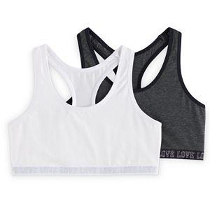 Girls SO® 2-pk. Tie-Dye & Solid Racerback Sports Bras