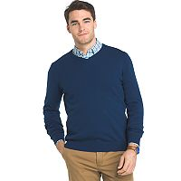 Big & Tall IZOD Regular-Fit Wool-Blend V-Neck Sweater