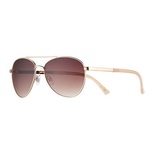 LC Lauren Conrad Crux 59mm Aviator Sunglasses