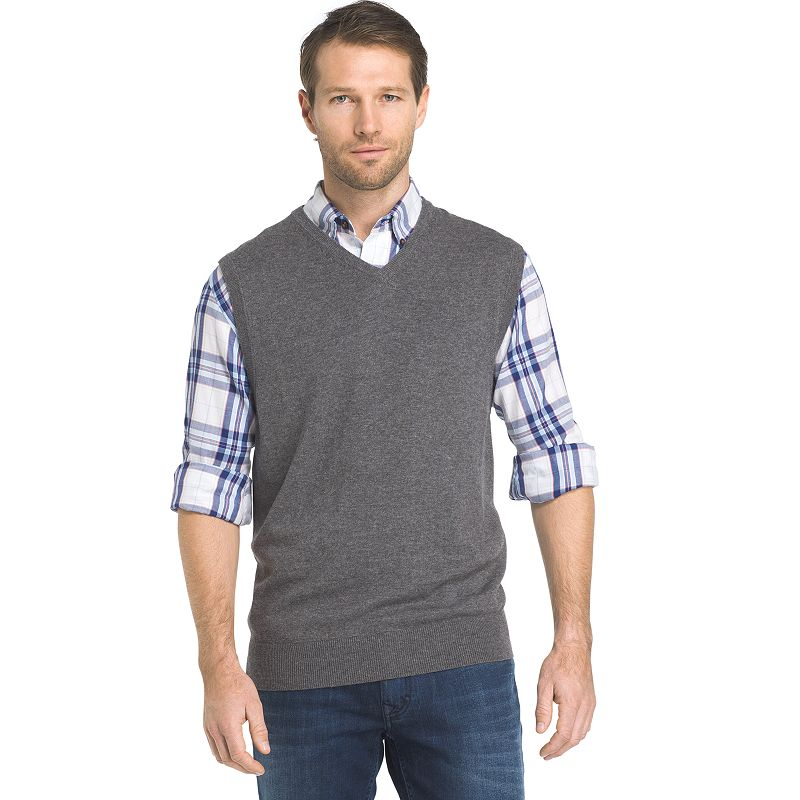 Big & Tall Van Heusen Regular-Fit Cable-Knit Quarter-Zip Sweater ...