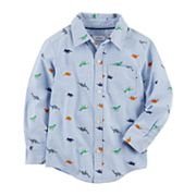 Toddler Boy Carter's Dinosaur Woven Button Down Shirt