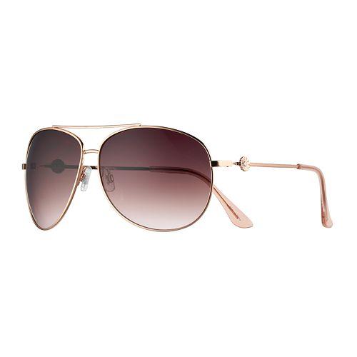 LC Lauren Conrad Carmel 2 66mm Oversized Aviator Sunglasses