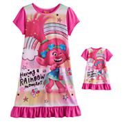 DreamWorks Trolls Poppy Girls 4-10 'Having a Rainbow Moment' Nightgown & Doll Gown Set