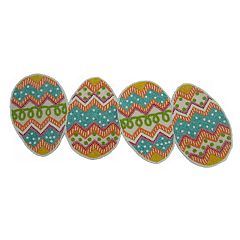 Celebrate Easter Together Egg-Shaped Beaded Table Runner - 36'