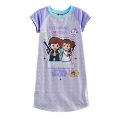 Girls 6-14 Star Wars Han Solo & Princess Leia 'Everyone Loves a Rebel' Nightgown