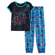 Disney / Pixar Coco Girls 6-12 Top & Bottoms Pajama Set