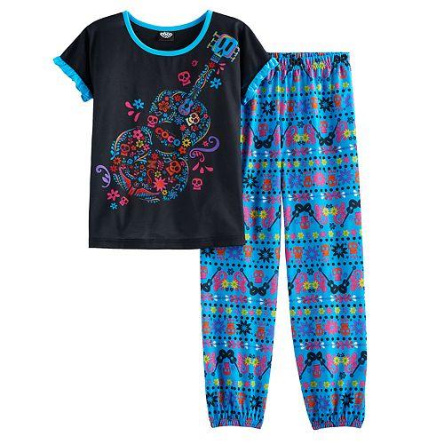 Disney / Pixar Coco Girls 6-12 Top & Bottoms Pajama Set