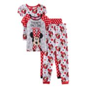 "Disney's Minnie Mouse Girls 4-8 ""There's Only One Minnie"" Tops & Bottoms Pajama Set"