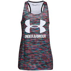Girls 7-16 Under Armour Pixelated Logo Racerback Tank Top