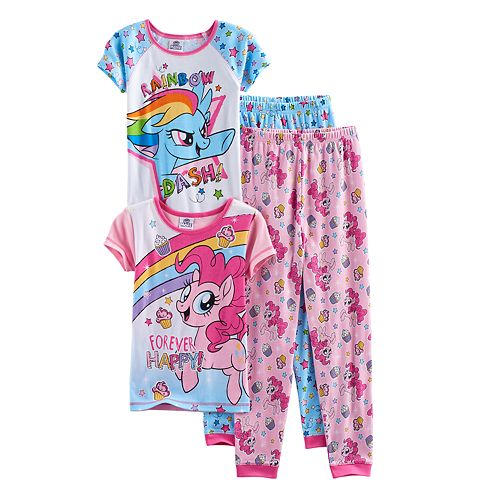 Girls 4-10 My Little Pony Rainbow Dash & Pinkie Pie Tops & Bottoms Pajama Set