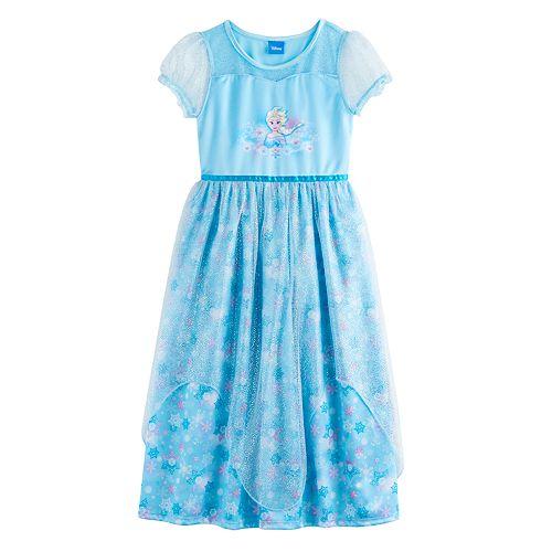 Disney's Frozen Elsa Girls 4-10 Fantasy Nightgown