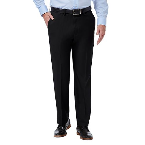 Men's Haggar® Premium Comfort Expandable-Waist Classic-Fit Stretch Flat-Front Dress Pants