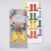 Celebrate Spring Together Let's Go Outside Kitchen Towel 2 pk