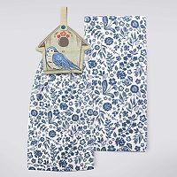Celebrate Spring Together Birdhouse Tie-Top Kitchen Towel 2 pk