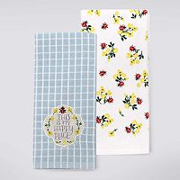 Celebrate Spring Together Happy Place Kitchen Towel 2 pk