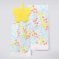 Celebrate Spring Together Butterfly Tie-Top Kitchen Towel