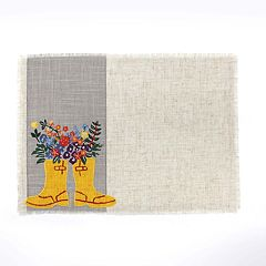 Celebrate Spring Together Rain Boots Placemat