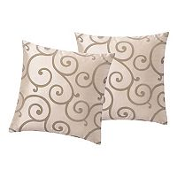VCNY Home Scroll Flocked 2 pc Throw Pillow Set