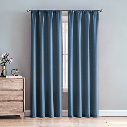 VCNY 2-pack Chambray Window Curtains