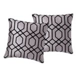 VCNY Home Irongate Flocked 2-piece Throw Pillow Set