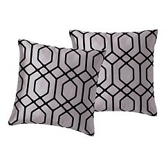 VCNY Home Irongate Flocked 2 pc Throw Pillow Set