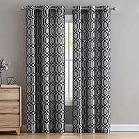 VCNY 2-pack Scroll Flocked Window Curtains