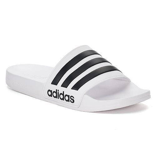 best service 63007 80422 adidas Adilette Cloudfoam Mens Slide Sandals