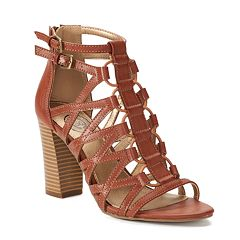 SO® Pufferfish Women's High Heel Gladiator Sandals