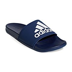 37c5e038c adidas Adilette Cloudfoam Plus Men s Slide Sandals. Black White Dark Blue  ...