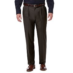 Men's Haggar® Premium Comfort Expandable-Waist Classic-Fit Stretch Pleated Dress Pants