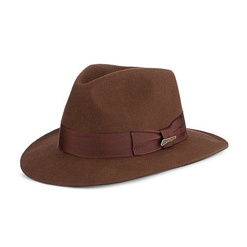 f632a0e1 Men's Indiana Jones Wool Felt Grosgrain Fedora