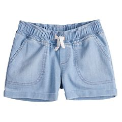 Baby Girl Jumping Beans® Rolled Cuff Shorts