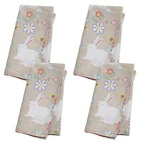Celebrate Easter Together Bunny Print Napkin Set 4 pk