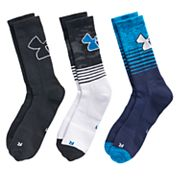 Boys 4-20 Under Armour Phenom 3-Pack Crew Socks