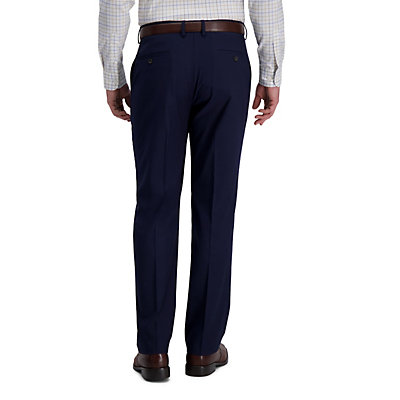Men?s J.M. Haggar 4-way Stretch Classic-Fit Expandable-Waist Flat-Front Dress Pants