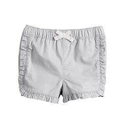 Baby Girl Jumping Beans® Ruffled Dolphin-Hem Shorts