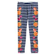 Disney / Pixar Coco Girls 4-7 Striped Floral Leggings by Jumping Beans®